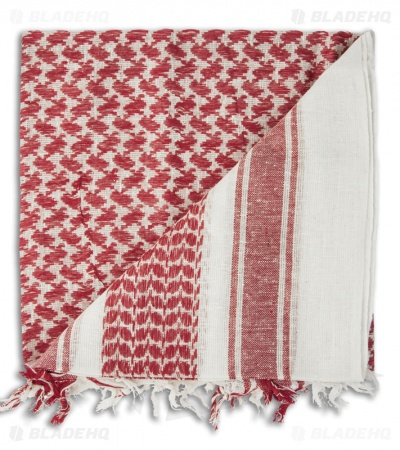 Camcon Shemagh Head Scarf (White/Red) 61020