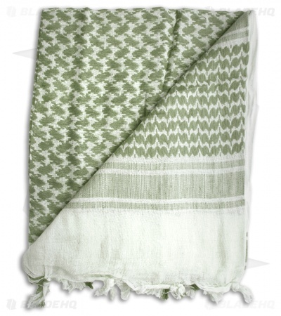 Grindworx White / Olive Drab Shemagh Head Scarf