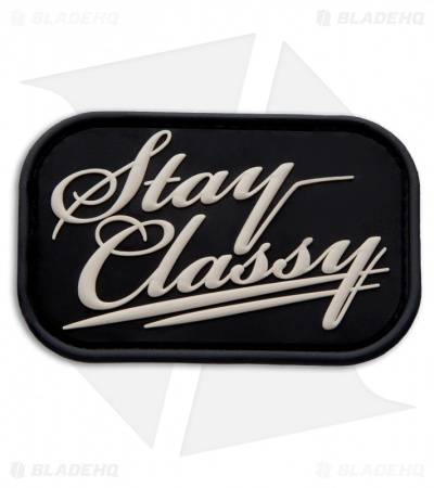 MSM Stay Classy PVC Hook Velcro Back Patch (SWAT)