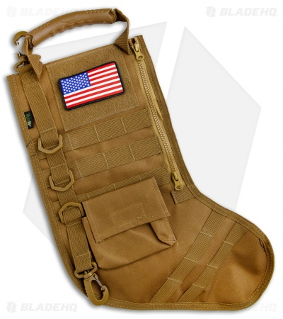 Osage River Ruck Up Tactical Christmas Stocking Khaki USA Patch