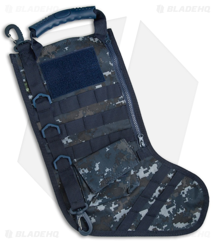 tactical christmas stocking deluxe molle elite version blue camo - Blue Christmas Stockings