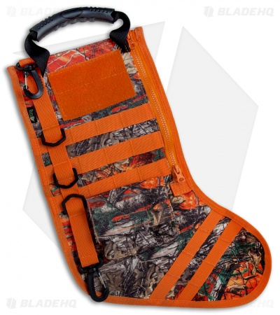 Tactical Christmas Stocking Deluxe Molle Elite Version (Blaze Orange Camo)