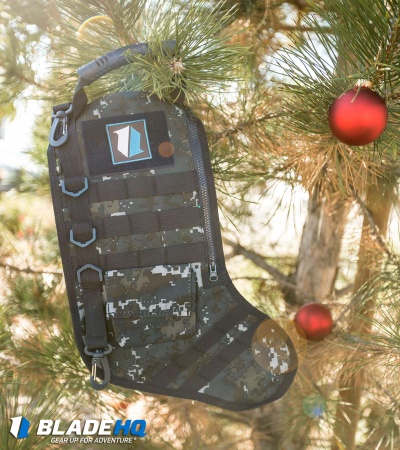 Tactical Christmas Stocking Deluxe Molle Elite Version (Blue Camo)