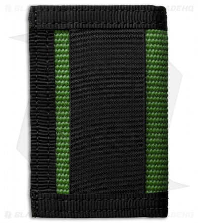 Recycled Firefighter Rookie Fire Hose Bifold Wallet (Green/Black)