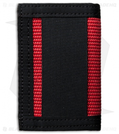 Recycled Firefighter Rookie Fire Hose Bifold Wallet (Red/Black)