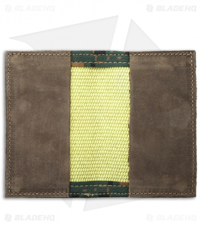 Recycled Firefighter Rookie Fire Hose Bifold Wallet (Yellow/Green Camo)