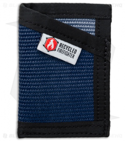 Recycled Firefighter Sergeant Fire Hose Slim Wallet (Blue/Black)