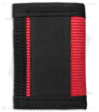 Recycled Firefighter Sergeant Fire Hose Slim Wallet (Red/Black)