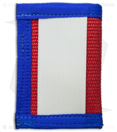Recycled Firefighter Sergeant Fire Hose Slim Wallet (Red/White/Blue)