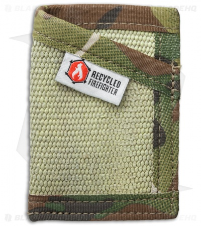 Recycled Firefighter Sergeant Fire Hose Slim Wallet (Yellow/Green Camo)