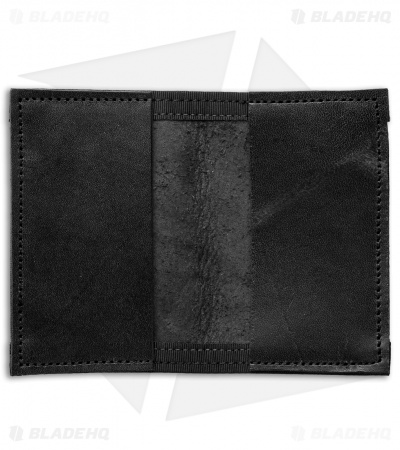 Recycled Firefighter Rookie U.S. Combat Boot Leather Wallet (Black/Black)