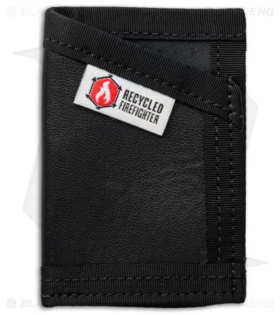 Recycled Firefighter Sergeant U.S. Combat Boot Leather Wallet (Black/Black)