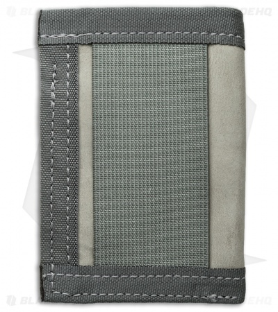 Recycled Firefighter Sergeant U.S. Combat Boot Leather Wallet (Foliage/Gray)