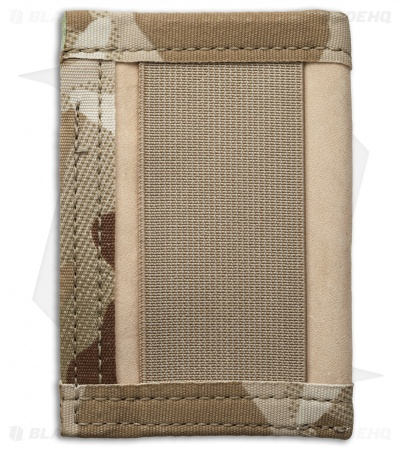 Recycled Firefighter Sergeant U.S. Combat Boot Leather Wallet (Tan/Tan Camo)