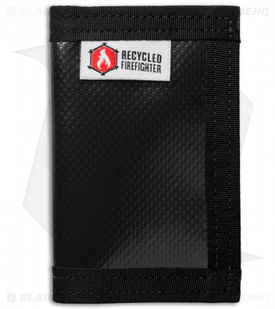 Recycled Firefighter Rookie Waterproof Tarp Bifold Wallet (Black/Black)