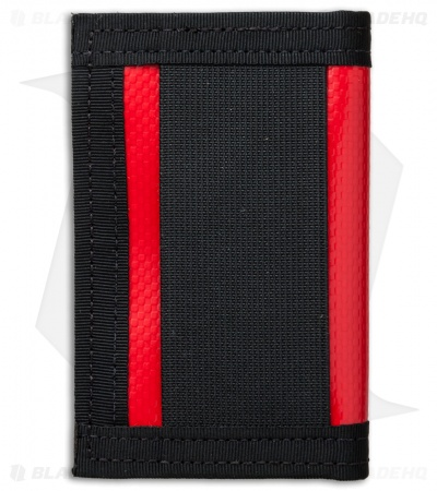 Recycled Firefighter Rookie Waterproof Tarp Bifold Wallet (Red/Black)