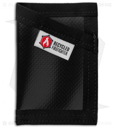 Recycled Firefighter Sergeant Waterproof Tarp Slim Wallet (Black/Black)