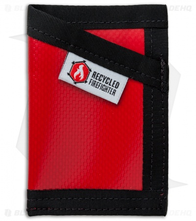 Recycled Firefighter Sergeant Waterproof Tarp Slim Wallet (Red/Black)