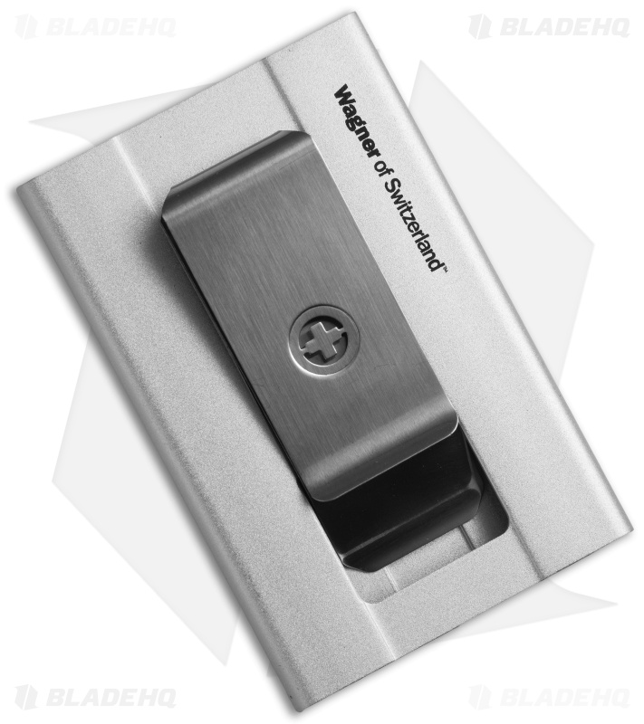 Wagner Super Slim Swiss Wallet Money Clip Silver Sw 705