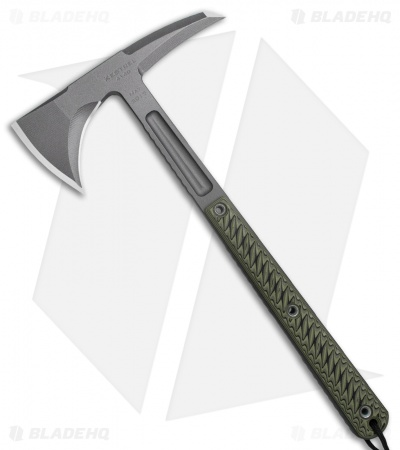 "RMJ Tactical Kestrel 13"" Tomahawk Axe Dirty Olive G-10 (Tungsten Cerakote)"