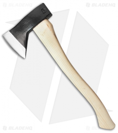 "Council Tool 18"" Hudson Bay Camp Axe w/Curved Hickory Handle 20HBS18"