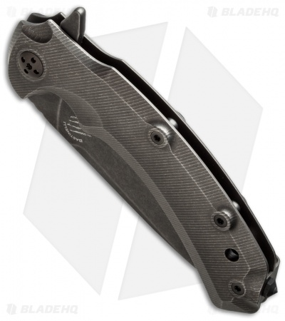 "Bastinelli Safe Frame Lock Flipper Knife Titanium (3.6"" Black SW)"