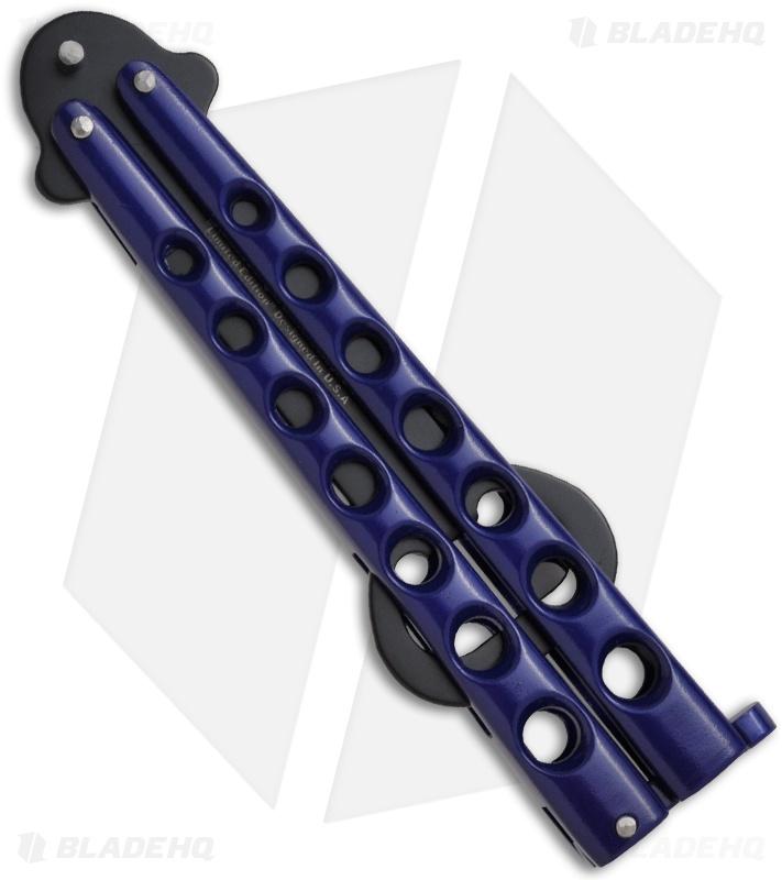 the bartender bottle fly butterfly knife bottle opener blue blade hq. Black Bedroom Furniture Sets. Home Design Ideas