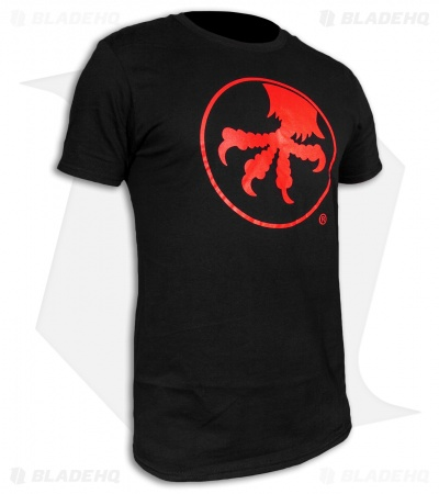 Microtech Knives Red Claw Logo Black Short Sleeve T-Shirt