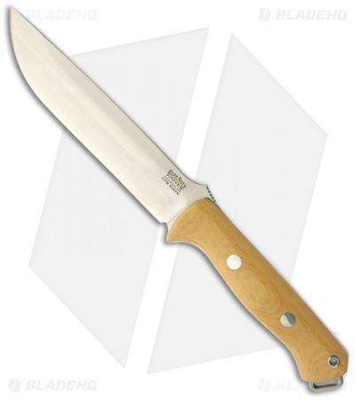 "Bark River Knives Bravo 1.5 Knife Antique Ivory Micarta Fixed Blade (5.8"" S35VN)"