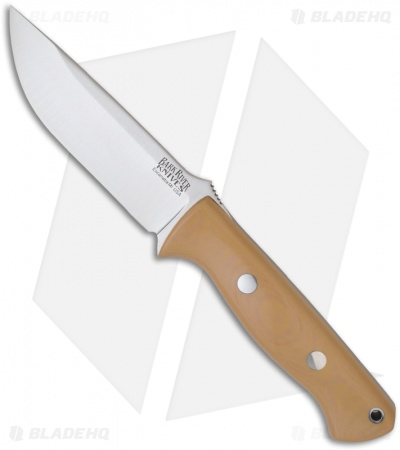 "Bark River Knives Bravo 1 Antique Ivory Micarta Fixed Blade Knife (4.25"" Plain)"