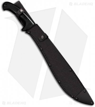 "Cold Steel Jungle Machete Knife (16"" Black Plain) 97JMS"