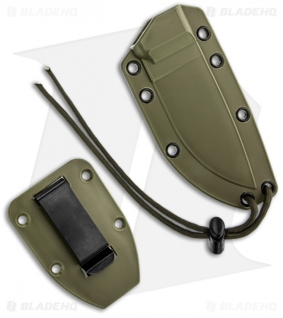 "ESEE Knives ESEE-3S-DT Knife Green Sheath (3.88"" Tan Serr)"