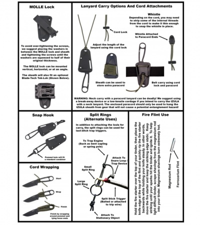 Izula Sheath Instructions: Knife & Sheath ONLY