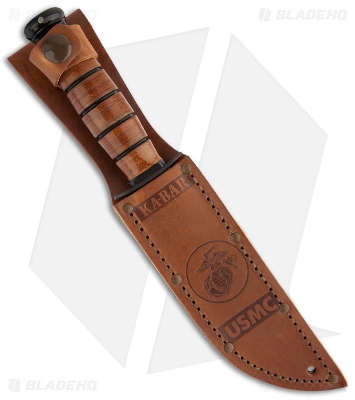 Ka Bar Short Usmc Fighting Utility Knife Leather Sheath 5