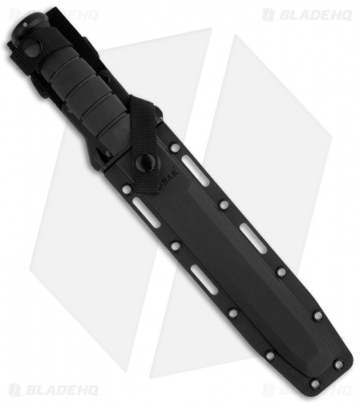 "Ka-Bar Black Tanto Tactical Knife + Sheath (8"" Black Serr) 1245"
