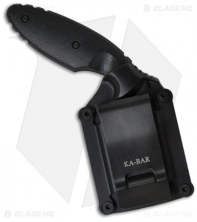 "Ka-Bar Small TDI Law Enforcement Fixed Blade Knife (2.31"" Black Serr) 1481"