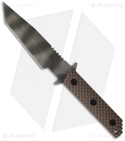 "Strider WB MOD 10 Tanto Knife w/ Brown Gunner Grip (3.25"" Tiger Stripe)"