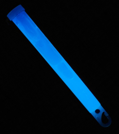 "6"" Ameriglo Light Stick 8 Hour Glow w/ Hook (Blue)"
