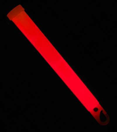 "6"" Ameriglo Light Stick 12 Hour Glow w/ Hook (Red)"