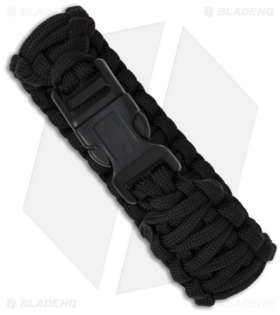 "Knot Boys 1"" Double Paracord Survival Bracelet (Black)"