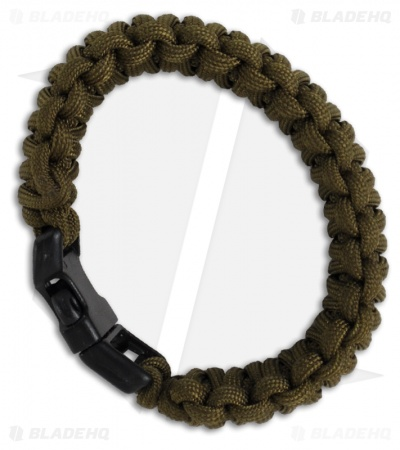 "Knot Boys 1"" Double Paracord Survival Bracelet Fat Boy (OD Green)"