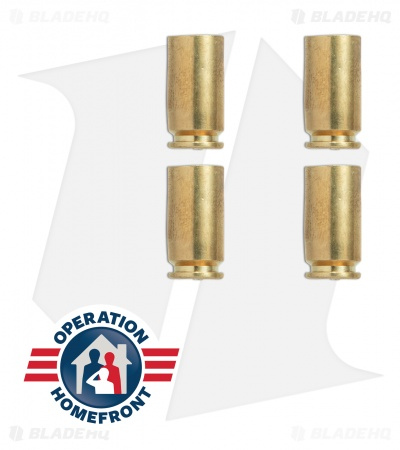 Hollow-Point Gear Brass Bullet .40 Caliber Valve Caps (Set of 4)