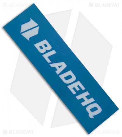 "Blade HQ White & Blue Rectangular Vinyl Sticker (4.25"" x 1.25"")"