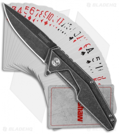 "Kershaw Starter Series Assisted Opening Knife & Playing Cards (3.25"" Blackwash)"