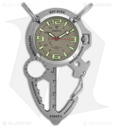 Dakota Multi Tool Clip Watch Gray DK3857
