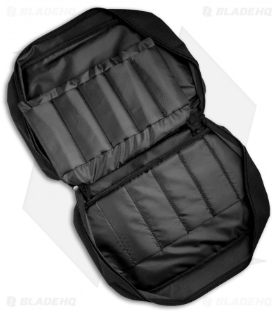 Black Nylon Knife Carrying Case w/ 22 Padded Storage Sleeves - M1050