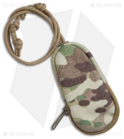 MSM Nylon Zippered Key Pouch w/ Neck Cord (Multi-Cam)