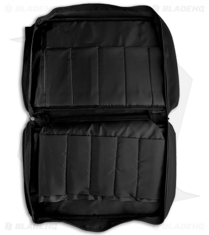 Carry All Knife Nylon Case Black Holds 22 Knives Blade Hq