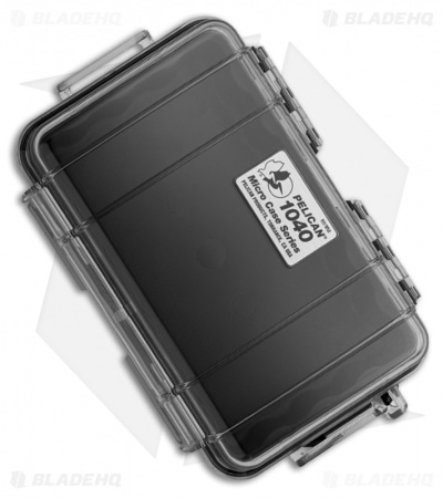 Pelican 1040 Micro Case Water Resistant Storage w/ Carabiner (Clear)