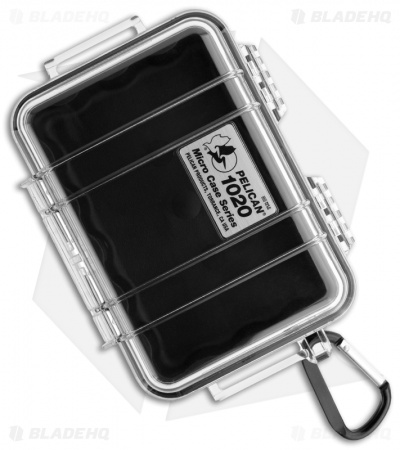 Pelican 1020 Micro Case Water Resistant Storage w/ Carabiner (Clear)